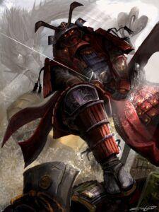 Samurai warroir in battle