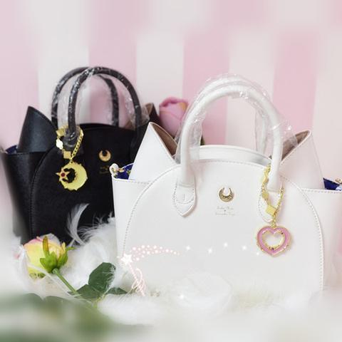 sailor moon merch luna and Artemis hand bags