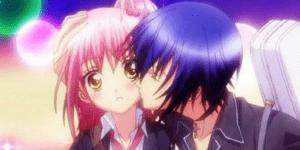 best anime to watch when you're feeling down. Shugo Chara. Amu and Ikuto kiss