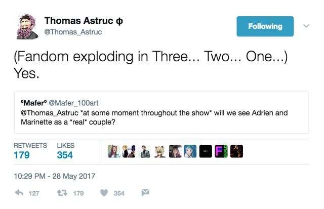 thomas astruc confirming adrien and marinette end up together miraculous ladybug