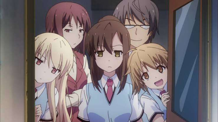 the-pet-girl-of-sakurasou-one-big-happy-family-boys-girls-woman-mashiro-sorata-nanami-ryuunosuke-rita-misaki-jin-chihiro-looking-surprised-disappointed-smiling
