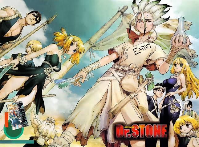 animes-similar-or-like-dr-stone-senkuu-chrome-kohaku-asagiri-gen-suika-kaskei-ruri-ginrou-kinrou-anime-girls-boys-together-weapons-test-tubes