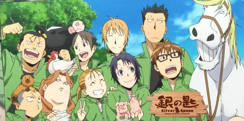 silver-spoon-gin-no-saji-hachiken-yuugo-mikage-aki-komaba-ichirou-inada-tamako-yoshino-mayumi-hachiken-shingo-keiji-hajime-shinnosuke-horse-cow-overalls-farm