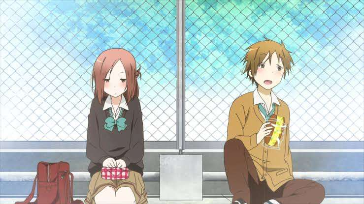 One-Week-Friends-Isshuukan-Friends-Kaori-Fujimiya-Yuuki-Hase-eating-together
