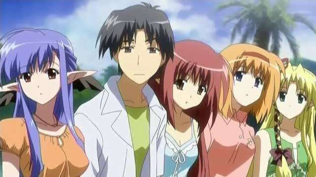 shuffle-anime-manga Kareha Kaede Fuyou Lisianthus Eustoma Rin Tsuchimi Nerine Asa Shigure looking at something suprised disappointed