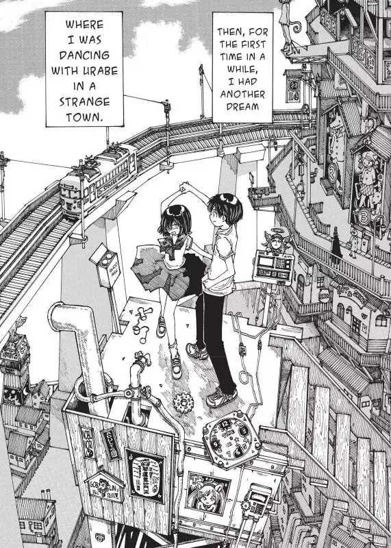 Bonding through Drool! Mysterious Girlfriend X (Manga Review) Mikoto Urabe Akira Tsubaki dancing in a dream strange dream town