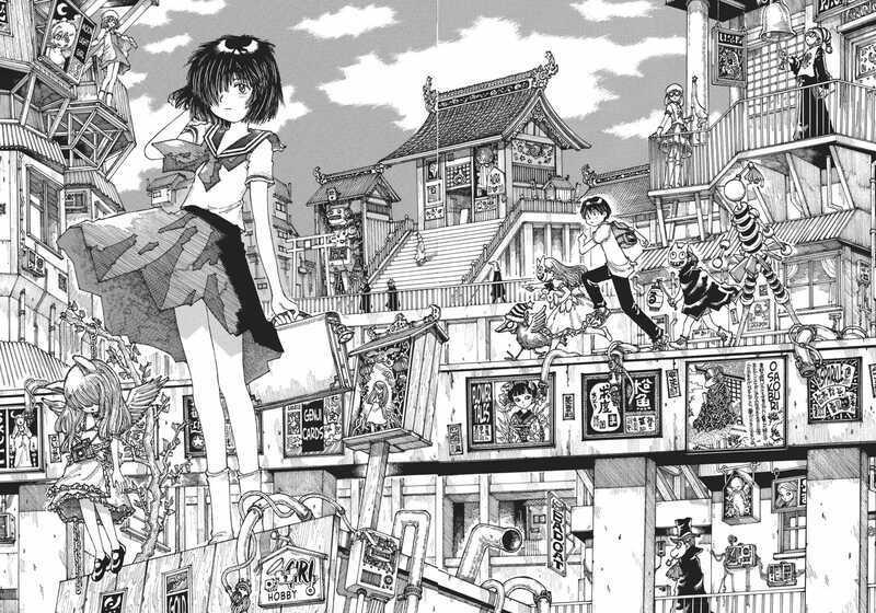 Bonding through Drool! Mysterious Girlfriend X (Manga Review) Mikoto Urabe Akira Tsubaki in a strange dream town