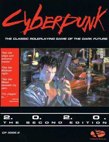 Cyberpunk 2020 red game cover Mike Pondsmith R. Talsorian Games