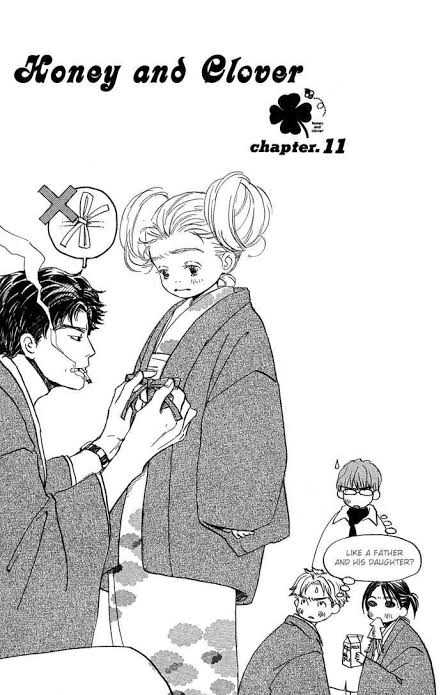 Honey and Clover manga Shinobu Morita Yuuta Takemoto Hagumi Hanamoto Shūji Takemoto, Morita and Mayama
