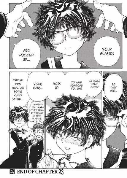 Mysterious Girlfriend X Ayuko Oka Kouhei Ueno messing up hair fogged glasses