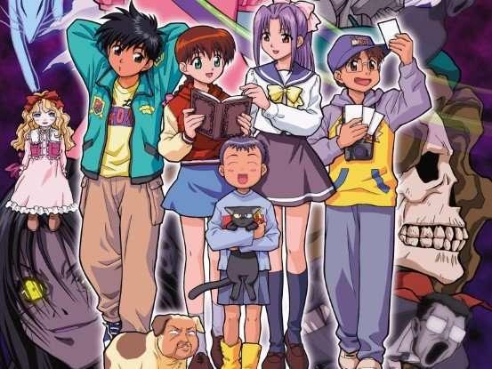 ghost stories anime Gakkou no Kaidan amanojaku momoko keiichirou hajime satsuki reo