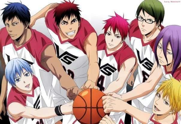 Kuroko's Basketball-tetsuya-taiga-daiki-seijuurou-ryouta-shintarou-atsushi-bishie-fighting