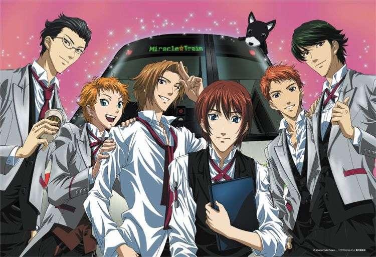 Miracle Train Welcome to the Oedo Line anime guys bishounen anime fumi-rintarou-iku- saki-izayoi-itsumi-tokugawa