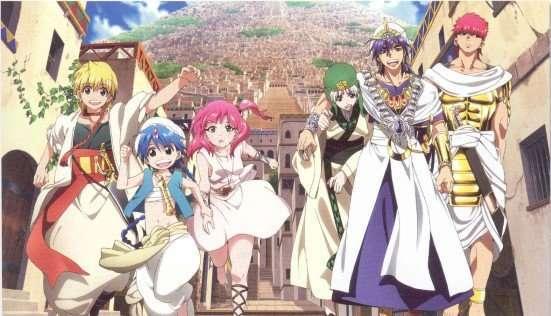 Magi.The Labyrinth of Magic-best-fantasy-anime