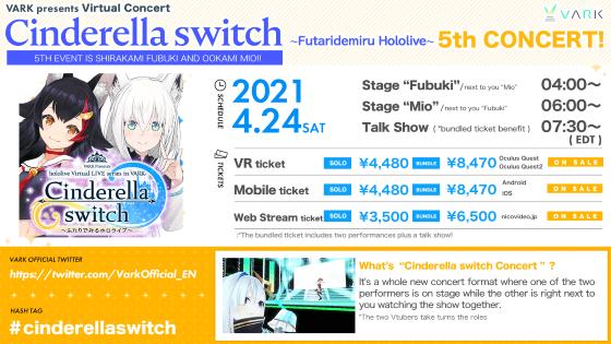 hololive Cinderella Switch VR Concert Volume 5 CS_Flyer_EN_5th
