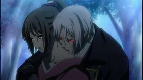 Hakuoki Demon of the Fleeting Blossom-ep-17-vampire human romance best vampire anime