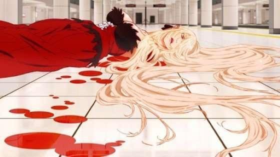 Kizumonogatari Part 1 Tekketsu anime_anime_girls_Oshino_Shinobu_artwork_Monogatari_Series_blood