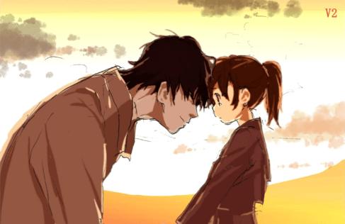 shelter anime song rin shigeru father daughter moment fan art